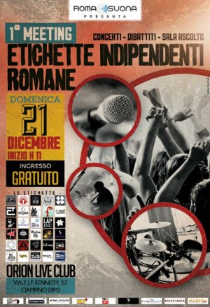locandina Meeting delle etichette indipendenti romane 2014