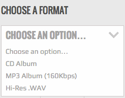 Choose format audio